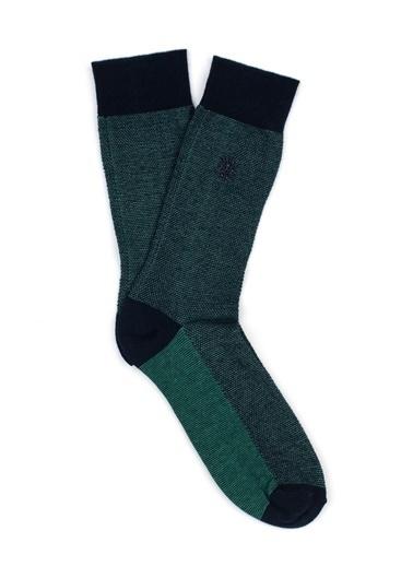Mavi Patik Çorap Yeşil